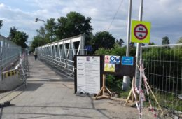 Most plukovníka Šrámka v obci Svinary